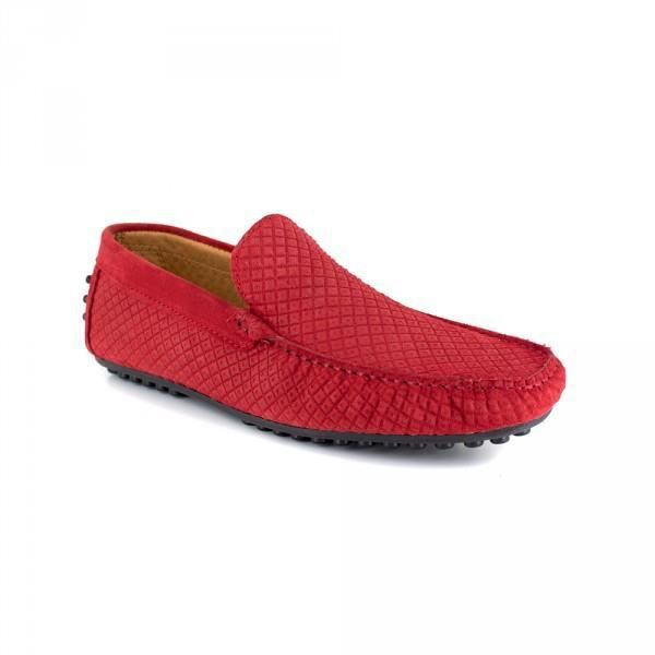 Mocassin J. BRADFORD Cuir Rouge JB-CLIPPER - Couleur - Rouge