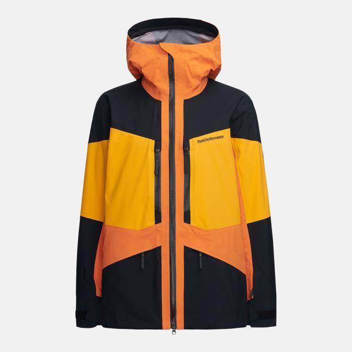 Veste De Ski/snow Peak Performance M Gravity Jacket Orange Altitude Homme