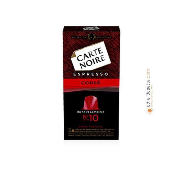 CARTE NOIRE Capsules Espresso Corsé N°10 x10 - 53 g