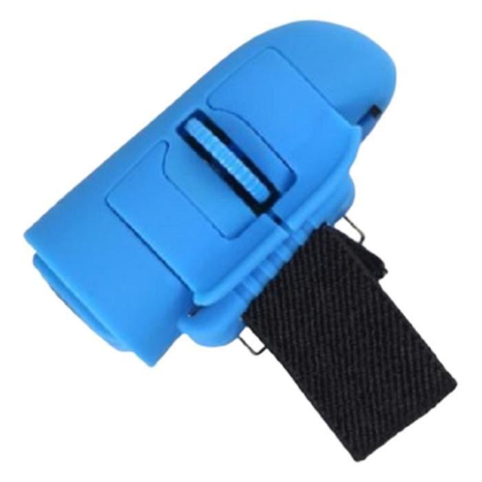Souris sans fil 2.4G souris créative sans fil adaptée aux personnes paresseuses, bleu