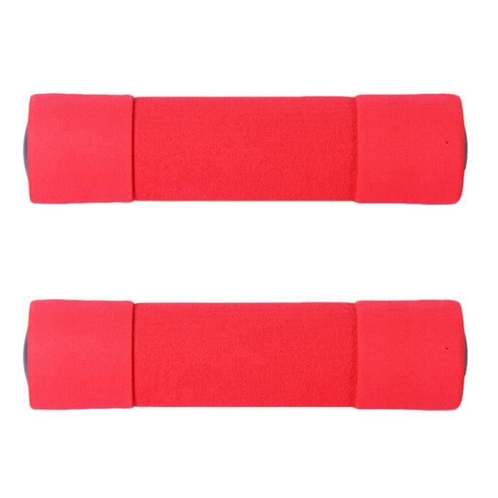 2 haltères pour femmes rouges 0,5 kg recouverts de mousse pour la maison BARRE - HALTERE - POIDS