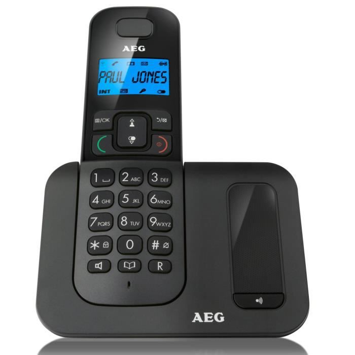 aeg phone t l phone fixe voxtel d500 noir achat t l phone fixe pas cher avis et meilleur. Black Bedroom Furniture Sets. Home Design Ideas