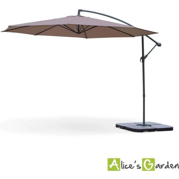 hardelot parasol d port rond 350cm taupe achat vente parasol parasol d port 350cm. Black Bedroom Furniture Sets. Home Design Ideas