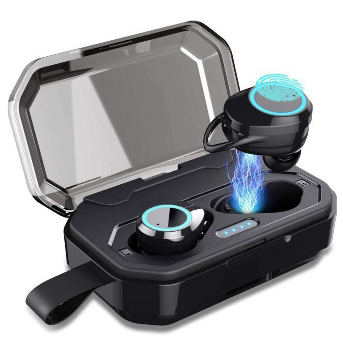 CASQUE AVEC MICROPHONE Écouteurs Bluetooth 5.0 - ARTIZLEE Oreillettes San