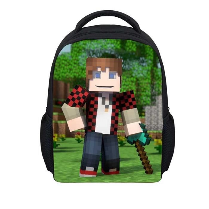 cartable minecraft pack cole gar ons de sport les enfants de sac dos a8 achat vente sac. Black Bedroom Furniture Sets. Home Design Ideas