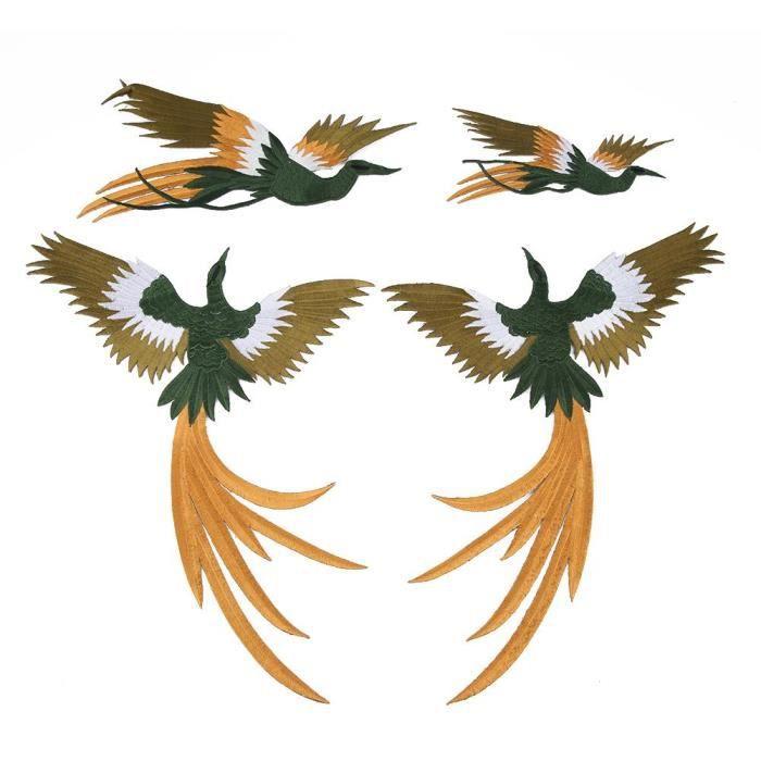 Ecusson brodé Oiseau Iron-On Embroidered patch Bird 7,5 cm
