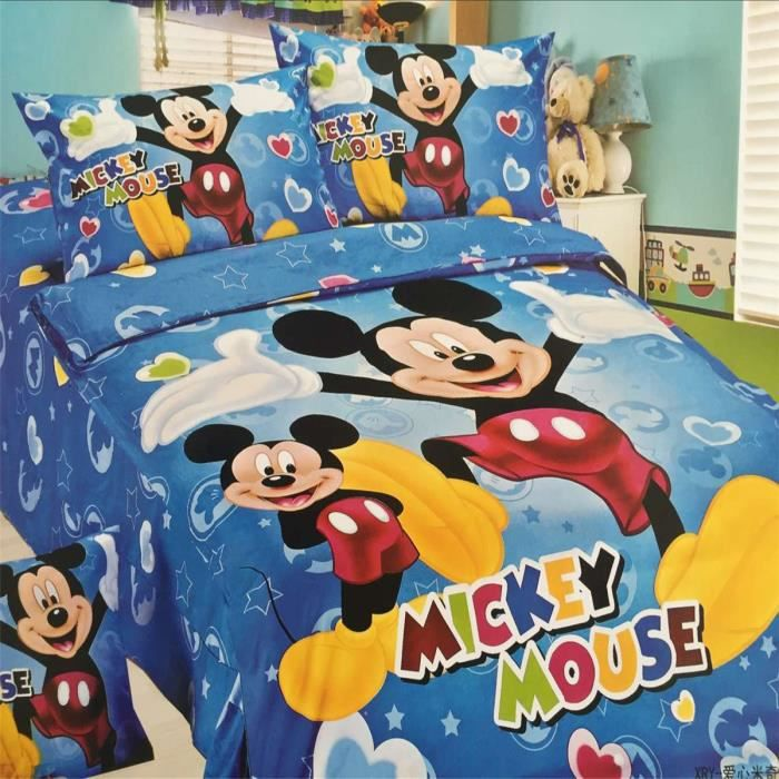 lm parure de lit enfant mickey mouse 100 polyester achat vente parure de couette cdiscount. Black Bedroom Furniture Sets. Home Design Ideas