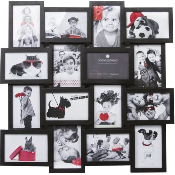 pele mele 16 photos 10 x 15 cm standards noir achat vente p le m le photo soldes. Black Bedroom Furniture Sets. Home Design Ideas