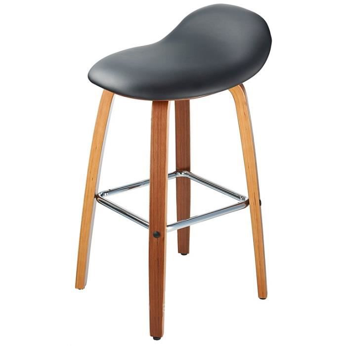 tabouret de bar noir assise incurv e 78cm achat vente tabouret de bar noir cdiscount. Black Bedroom Furniture Sets. Home Design Ideas