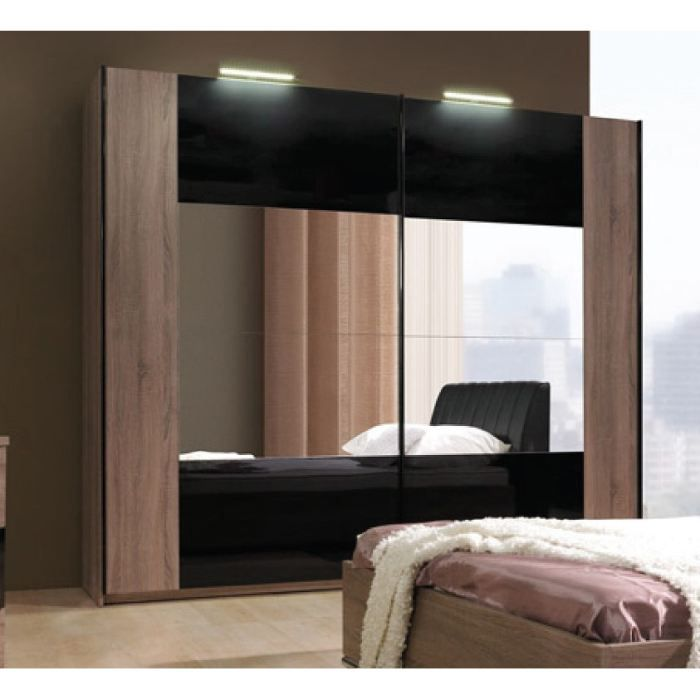 armoire design tari finiton chene fonc 2m achat. Black Bedroom Furniture Sets. Home Design Ideas