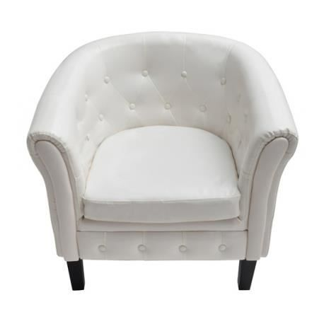 fauteuil chesterfield blanc achat vente fauteuil bois. Black Bedroom Furniture Sets. Home Design Ideas
