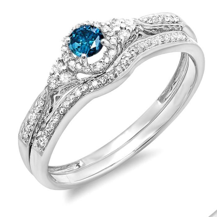 BAGUE - ANNEAU Bague Femme - Alliance Diamants 0.33 ct  18 ct 750
