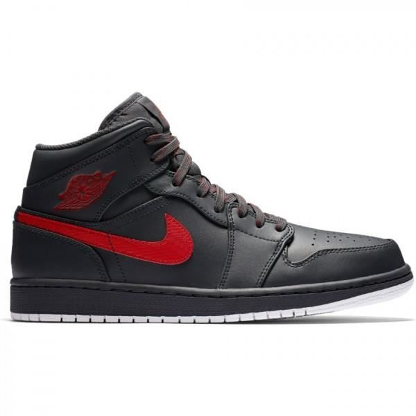 BASKET Chaussure de Basket Air Jordan 1 Mid Noir Anthraci