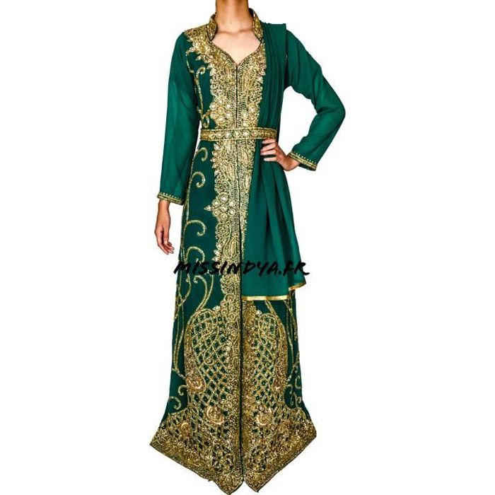 Robe De Soiree Malika Vert Perle Cocktail Mariage Oriental Salwar Kameez Sari Caftan Robe Dubai Vert Achat Vente Robe De Ceremonie Bientot Le Black Friday Cdiscount