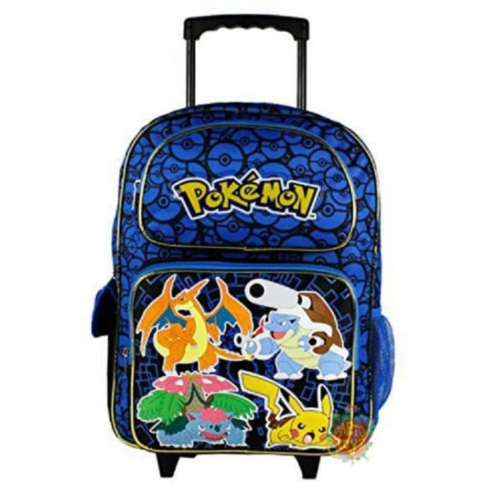 TROLLEY POKEMON CARTABLE A ROULETTES SAC A DOS 40 X 3 PRIMAIRE ... 59c35fdecca7