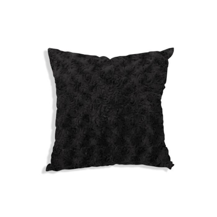 housse de coussin 40x40 cm alaska noir achat vente. Black Bedroom Furniture Sets. Home Design Ideas