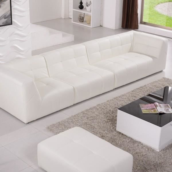 Canap modulable cuir synth pogo pop art blanc achat vente canap sofa - Canape modulable but ...