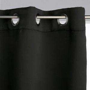 RIDEAU Rideau occultant noir 260x140 cm