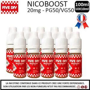 LIQUIDE E-liquide Nicoboost 20mg - Lot de 10 flacons de 10