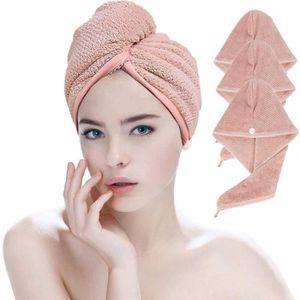 Couleur al/éatoire 3 Serviettes Cheveux secs Twisted Turban Cheveux Envelopp/é Microfibre molletonn/é et Absorbent s/échage Rapide Grand Cadeau pour Les Femmes et Les Filles