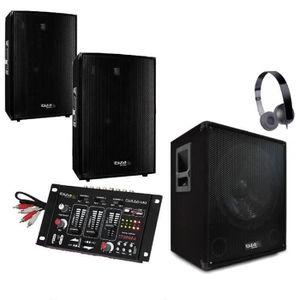 PACK SONO SONO 2000W + TABLE DE MIXAGE + CAISSON AMPLIFIE +