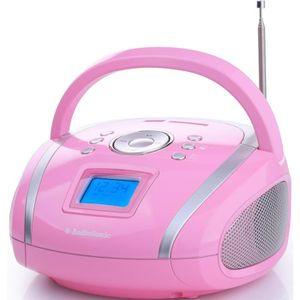 RADIO CD CASSETTE AUDIOSONIC RD-1566 Radio stéréo USB/SD/MP3 Rose