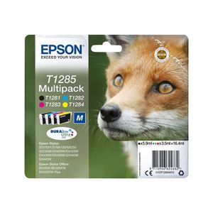 CARTOUCHE IMPRIMANTE EPSON Multipack  T1285 - Renard - Noir, Cyan, Mage