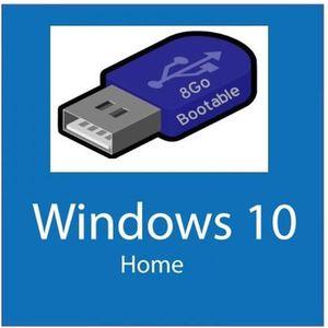 CLÉ USB Clé USB Bootable Windows 10 avec clé d'activation