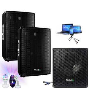 PACK SONO PACK SONO 2000W CUBE1512 + 3 JEUX DE LUMIERES PA D