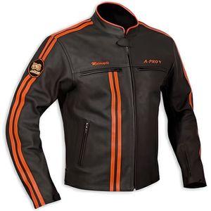 BLOUSON - VESTE Blouson Cuir Homme Moto Protecti...