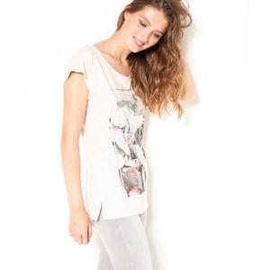 T-SHIRT Camaïeu - T-shirt femme print photo - COLD NUDE -