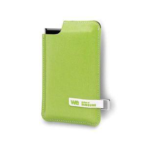 DISQUE DUR SSD EXTERNE WE SSD externe - 250Go - Noir/Vert - Housse verte