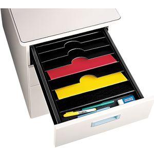 TRIEUR - PARAPHEUR Trieur 6 cases pour tiroir de bureau - Noir