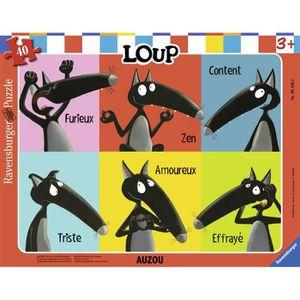 PUZZLE RAVENSBURGER Puzzle cadre 30-48 p - Le Loup qui ap