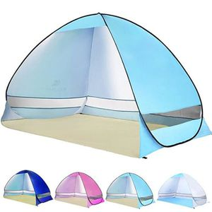 TENTE DE CAMPING Camping Tente 3 Personnes plage Tentes Anti-UV Abr