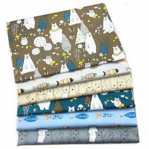 Tone-Navyblue UOOOM Lot de 6pcs 50 x 50 cm Patchwork coton tissu DIY Fait /à la main en tissu /à coudre Quilting Designs Diff/érents