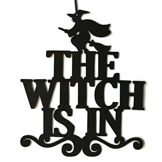 Halloween maison hantée porte métallique signe Trick Ou Traiter Suspendu Halloween Plaque