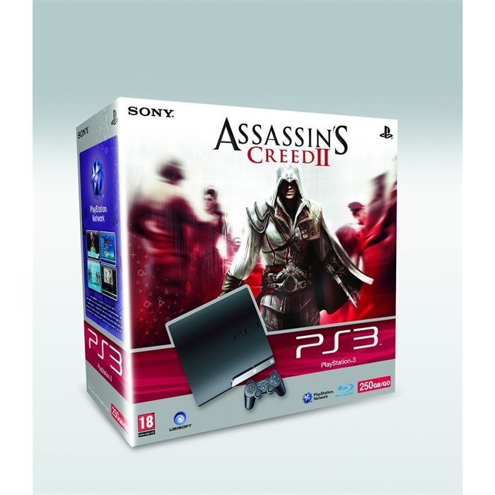 Pack console Sony PS3 Slim 250 Go + Assassin's Cre