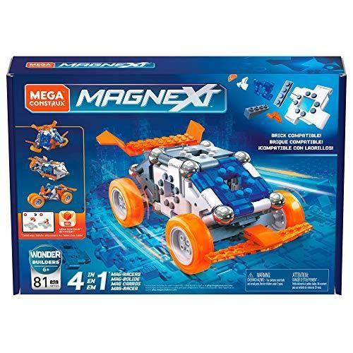 Mega Construx Magnext Wonder Builders Mag-bolide 4-en-1, Jeu de Construction Aimanté, 81 Pièces, pour Enfant Dès 6 Ans, GFF2