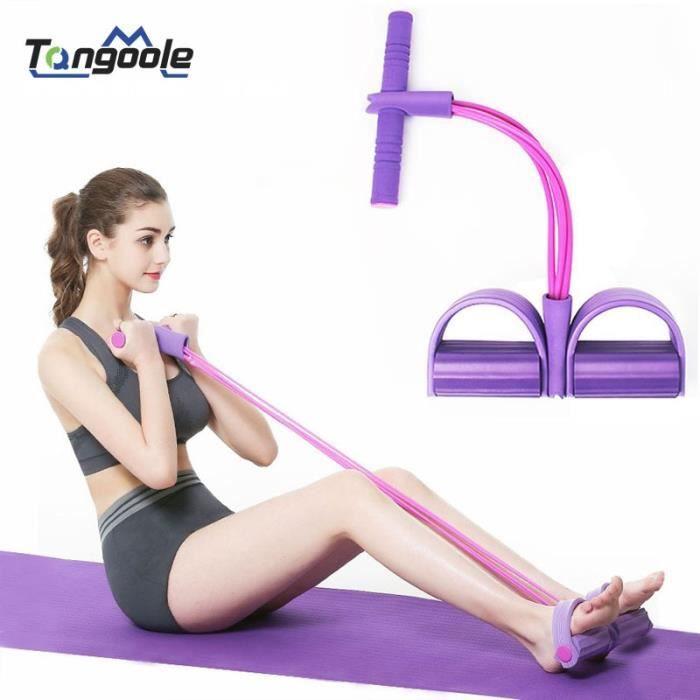 Nouvelle pédale exercice tirer cordes exercice rameur ventre résistance bande maison gymnas - Modèle: Jaune 2 tubes - HSJSTLDA04966