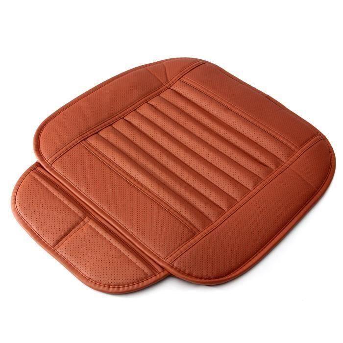 NEüFU Coussin de siège en cuir PU de voiture 50x54cm Rouge Fe44771