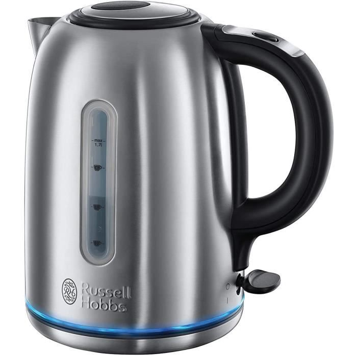 Russell Hobbs Bouilloire 1,7L, Silencieuse, Ebullition Rapide, Filtre Anti-Calcaire Amovible Lavable - 20460-70 Buckingham