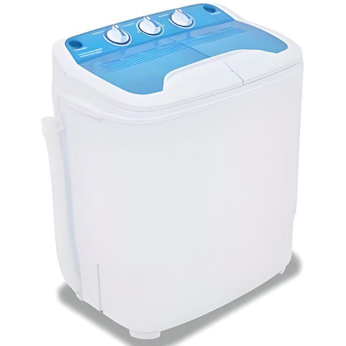 Mini machine à laver à deux cuves 5,6 kg Lave-linge compact, Camping, Studio et Petites Pièces HB051 -BOT