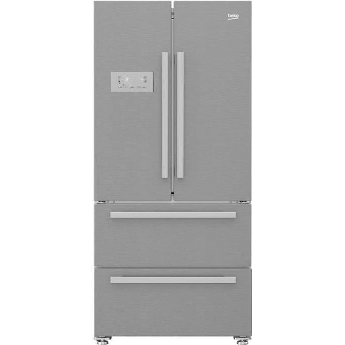 BEKO Réfrigérateur Américain Multi-portes GNE60522X - 539L (387L + 152L) - A+