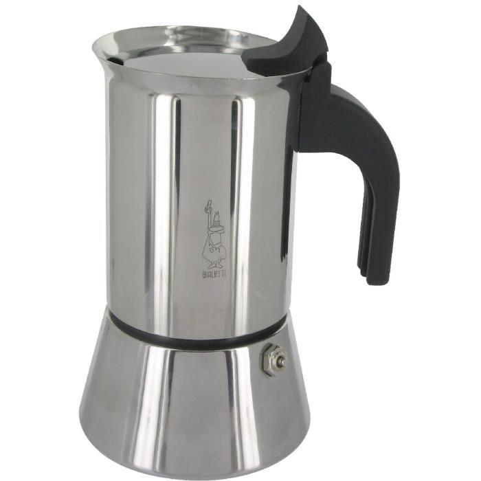 BIALETTI Cafetière INOX 4 Tasses VENUS INDUCTION