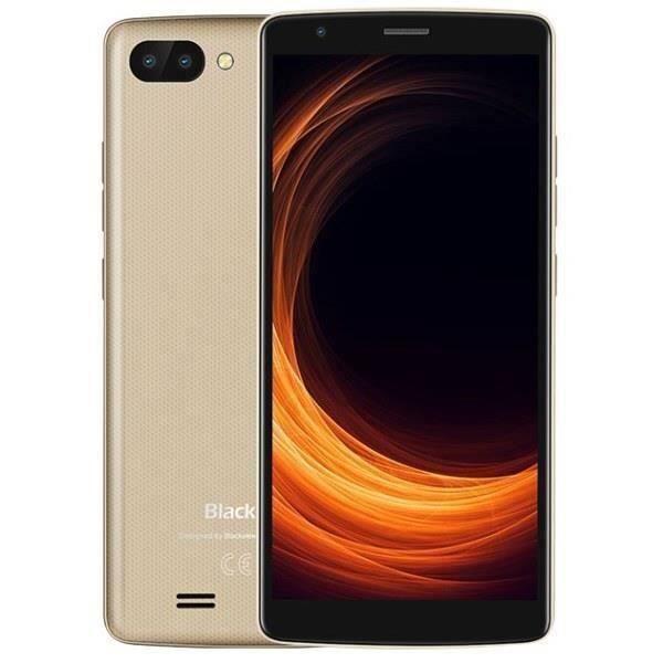 Smartphone Blackview A20 PRO 16Go Pas Cher Android 8.1 5.5pouces HD 18:9 Ecran Dual Camras Debloqué Empreintes Digitales - Or