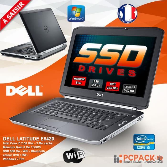 DELL LATITUDE E5420 CORE I5 2520M 8GO 500GO SSD