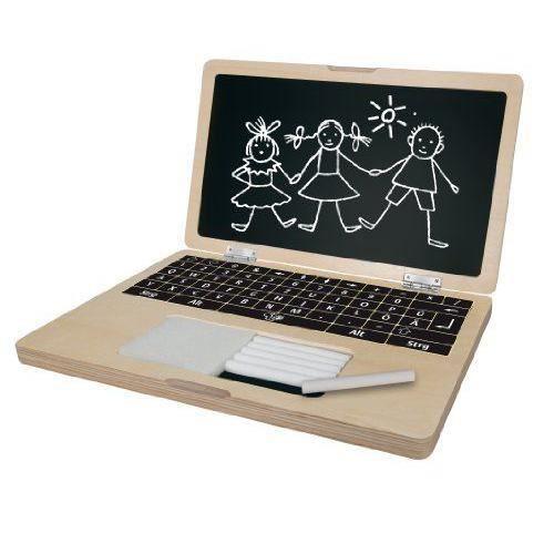 Eichhorn 100002575 - JEUX/JOUETS - PUZZLE - Ordinateur portable en Bois avec puzzle - 14 pièces - multicolore