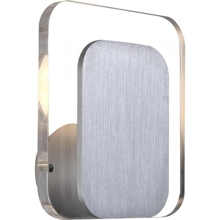 Applique DEL grande qualité luminaire mural aluminium acrylique clair couloir