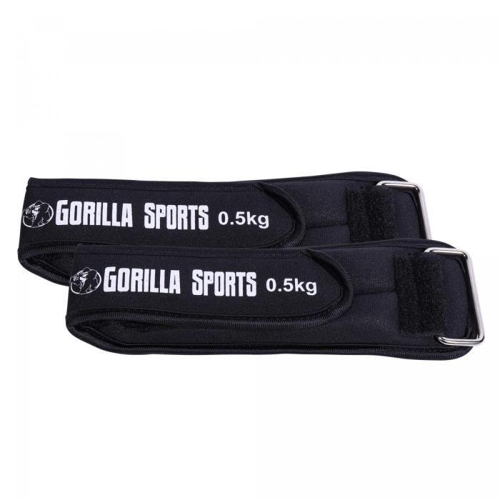 Bandes lestées avec fixation Velcro pour poignets et chevilles - 2 x 0,5 kg